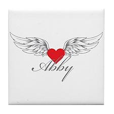 Angel Wings Abby Tile Coaster