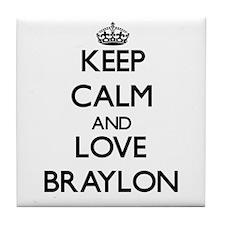 Keep Calm and Love Braylon Tile Coaster