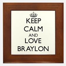Keep Calm and Love Braylon Framed Tile