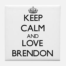 Keep Calm and Love Brendon Tile Coaster