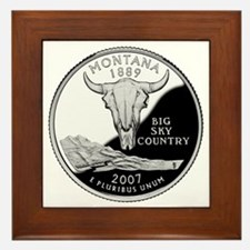 coin-quarter-montana Framed Tile
