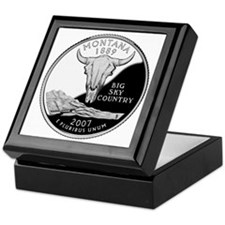 coin-quarter-montana Keepsake Box