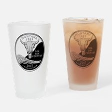coin-quarter-montana Drinking Glass