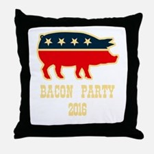 Bacon Party 2016 Throw Pillow