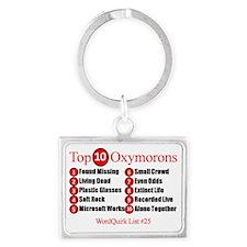 top-10-oxymorons-top-ten-oxymor Landscape Keychain