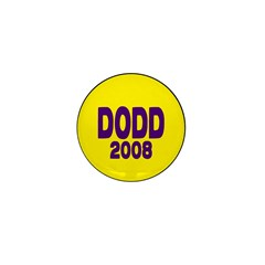 Dodd 2008 Yellow Mini Button