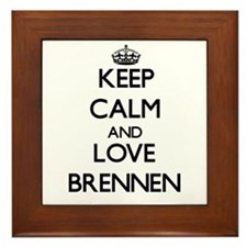 Keep Calm and Love Brennen Framed Tile