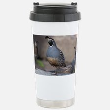 quail_greet_card Stainless Steel Travel Mug