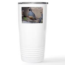 quail_greet_card Travel Mug