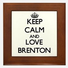 Keep Calm and Love Brenton Framed Tile