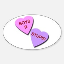 Boys R Stupid Sticker (Oval)