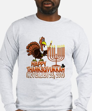 Happy Thanksgivukkah Thankgiving Hanukkah Long Sle