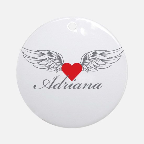Angel Wings Adriana Ornament (Round)