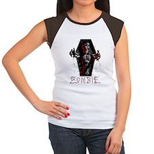 zombie_coffin02 Women's Cap Sleeve T-Shirt