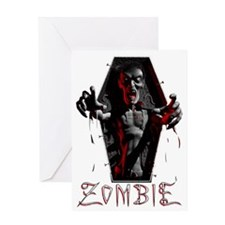 zombie_coffin02 Greeting Card