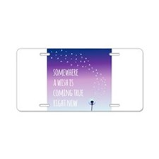 Dandelion Wishes Aluminum License Plate