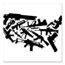 "Merica' Square Car Magnet 3"" x 3"""