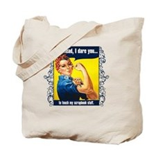 TouchMyStuff Tote Bag