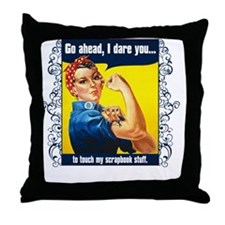 TouchMyStuff Throw Pillow