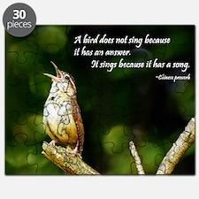 2-Carolina Wren-1 in song #091 08-15-09 Bis Puzzle