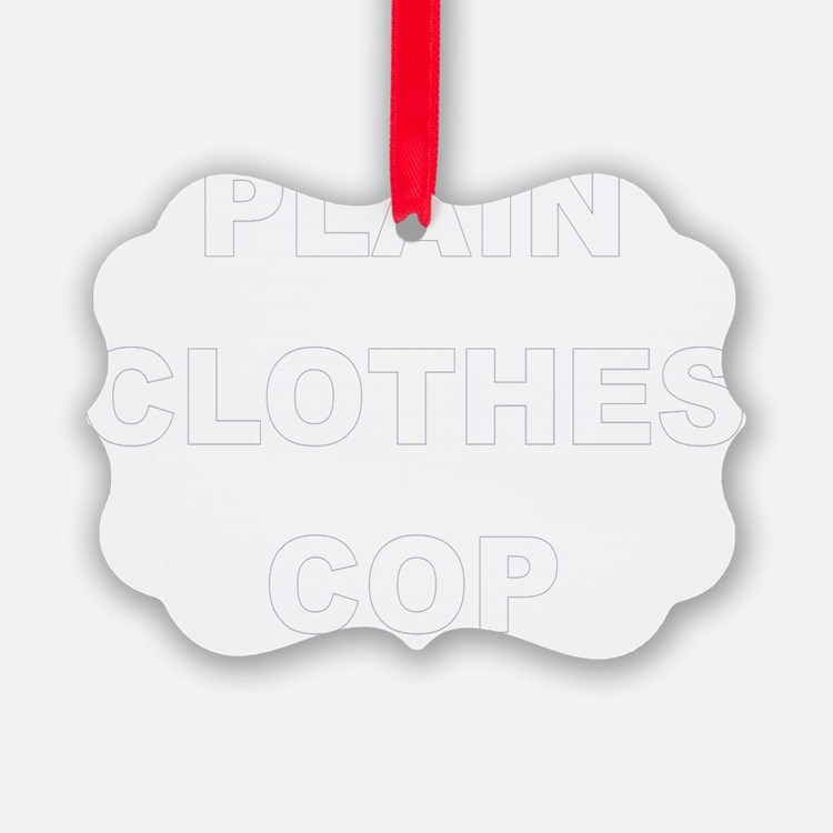 Plain Clothes Cop Ornament