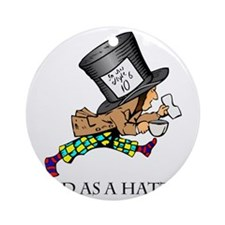 Mad-Hatter Round Ornament