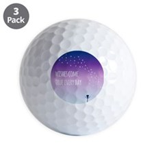 Wishes come true everyday Golf Ball
