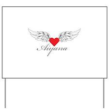 Angel Wings Aiyana Yard Sign