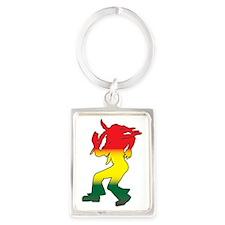 Dancing Rasta Portrait Keychain