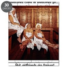 Sauna Girlfriends in Towels Puzzle