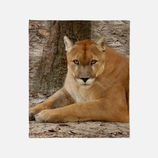 Cougar 003 Throw Blanket