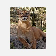 Cougar 009 Throw Blanket