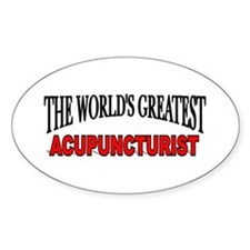 """""""The World's Greatest Acupuncturist"""" Decal"""