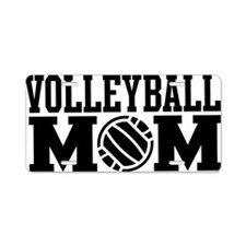 volleyball-mom-long-black Aluminum License Plate