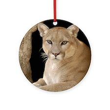 Cougar 014 Round Ornament