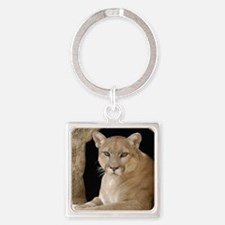 Cougar 014 Square Keychain