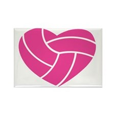 volleyball-heart Rectangle Magnet