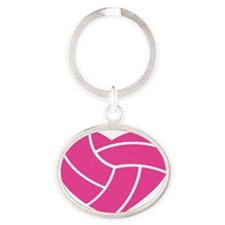 volleyball-heart Oval Keychain