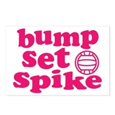 volleyball-bump-set-spike Postcards (Package of 8)