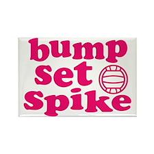 volleyball-bump-set-spike-pink Rectangle Magnet
