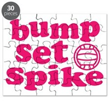 volleyball-bump-set-spike-pink Puzzle