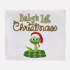 Western 1st Christmas Throw Blanket