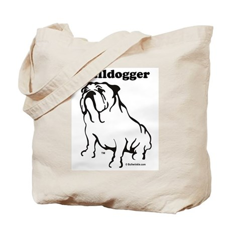 Bulldogger Logo Black Tote Bag