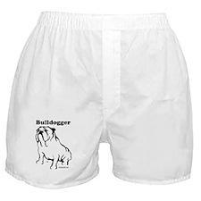 Bulldogger Logo Black Boxer Shorts