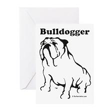 Bulldogger Logo Black Greeting Cards (Pk of 10