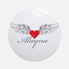 Angel Wings Alayna Ornament (Round)