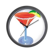 Margarita with Lime Wall Clock