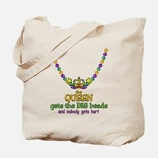 HeartCrownQbbeadsTR Tote Bag