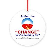ObamaChange-Cafe Round Ornament
