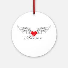 Angel Wings Aleena Ornament (Round)